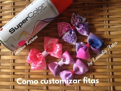 Como  customizar fitas by Tatiana Karina (how to customize tapes.cómo personalizar las cintas)