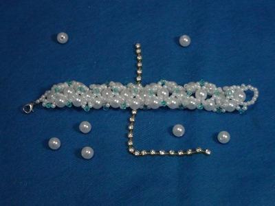 DIY---   pulseira de trama de pérolas  ---   Vintage