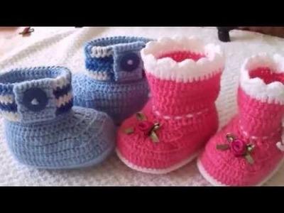 Diy.Sapatinho Bebê de Crochê.Iniciantes.Dicas Simples de como fazer.Acabamento.GraçaTristão