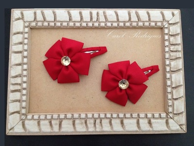Tic-tac Decorado com Flor de Fita Simples - DIY Ribbon Flower