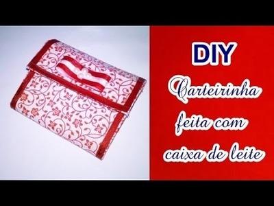 Como fazer carteira pequena com caixa de leite - reciclagem