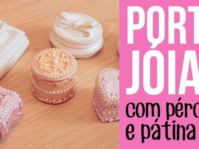 Mini Porta Jóia de Resina com Pátina Gel Daiara