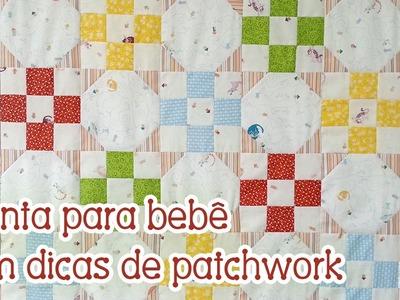 Patchwork Ao Vivo #59: manta para bebê + como agilizar corte e montagem