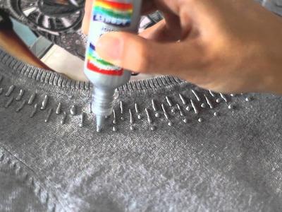 Tutorial: efeito de bordado com tinta metálica