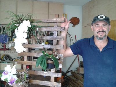 MARCENARIA CRIATIVA - Floreira de Parede com madeira reciclada -Em parceria com Mulher Marceneira