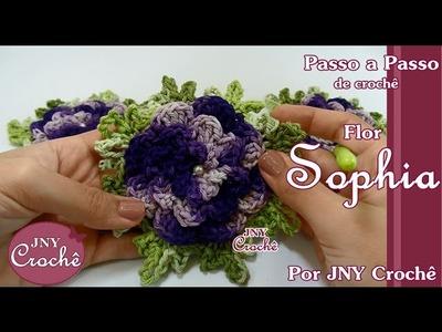 PAP Flor Sophia - JNY Crochê