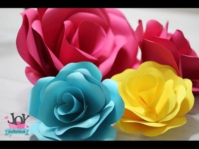 Como fazer Rosa de papel (paper flower)