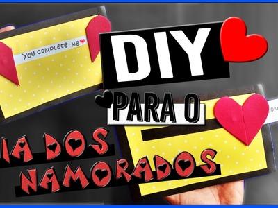 DIY: Cartão Deslizante CRIATIVO para o Dia dos Namorados #2