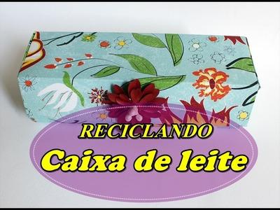 DIY - Reciclando CAIXA DE LEITE - 4° Arte Desafio - Quase sessenta - Didi Tristão