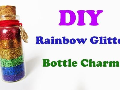DIY: Rainbow Glitter Bottle Charm (Arco-Íris num Potinho!) Ideias Personalizadas - DIY