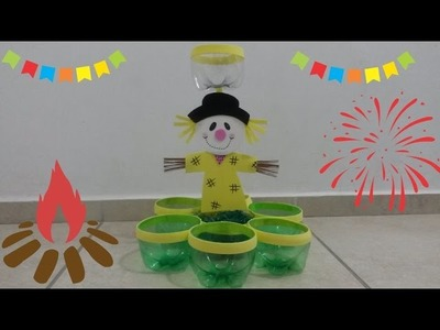 DIY: PORTA DOCES PARA FESTA JUNINA.DICAS DE ENFEITES JUNINOS