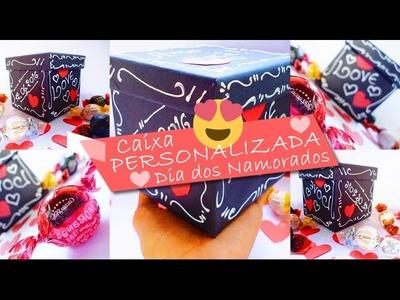 DIY - Presente Dia dos Namorados (Caixa Personalizada) | Diy Nathy Araujo
