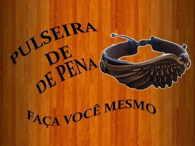 *DIY* PULSEIRA DE COURO COM ASA SIMPLES E FACIL