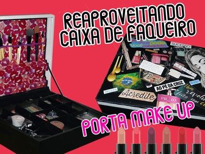 DIY - Do Lixo ao Luxo - Caixa de Maquiagem feito com Cx Faqueiro -  Collage Art 2 :: Rebeca Salvador