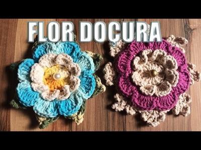 Aprendendo Flores em Crochê - FLOR DOÇURA