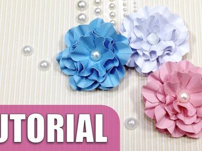 Como fazer flor de papel | Tutorial scrap