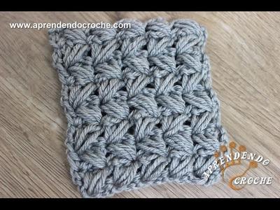 Ponto de Crochê Avelã Cruzado - Aprendendo Croche