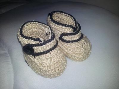 Sapatinho de Crochê baby