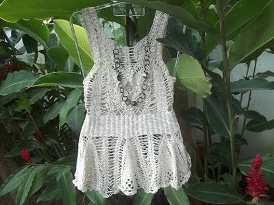 Vestido de crochê parte 3