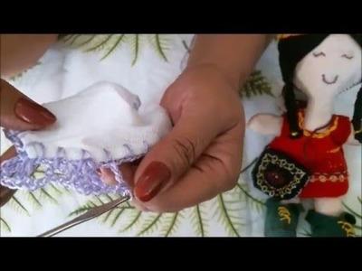 Coração com croche e pintura para o Dia das Mães-Apostila risco num 37