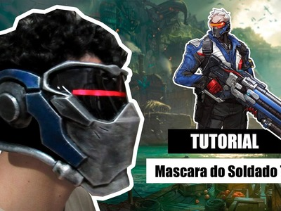 D.I.Y Como fazer a mascara do Soldado 76 (Overwatch) - Kmaker Tutorial