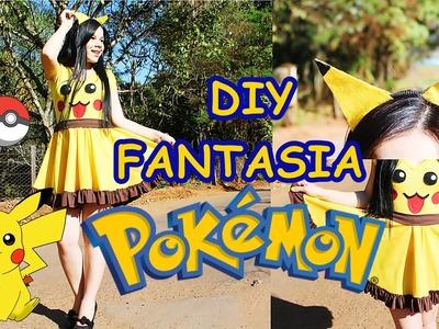 DIY: FANTASIA DO PIKACHU - POKÉMON - costume pikachu