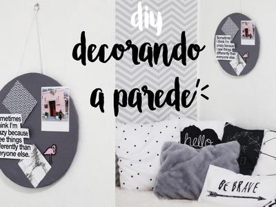 DIY: Mural e Yarn Hanging Pinterest Inspired