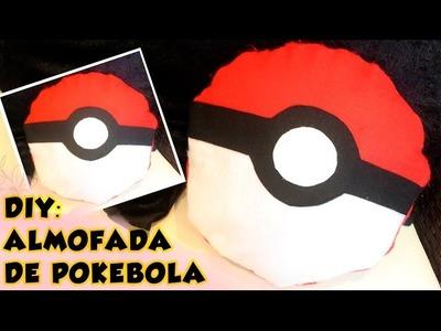 DIY: PÓKEMON - ALMOFADA DE POKEBOLA (SEM COSTURA)