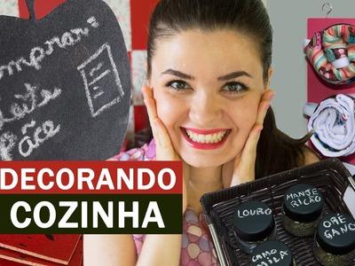Ideias FÁCEIS e BARATAS de decoração para COZINHA - DIY
