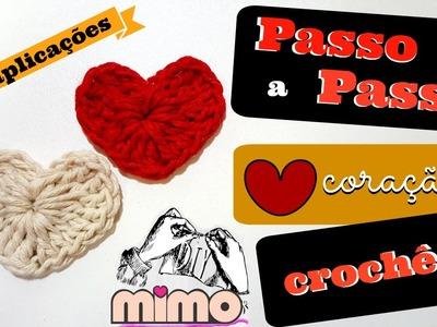 PAP CORAÇÃO de CROCHÊ para APLIQUES- DIY-TUTORIAL COMPLETO
