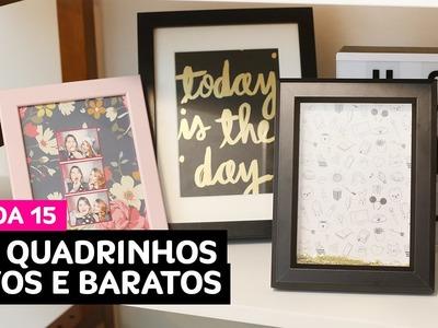 VEDA15: DIY - quadrinhos fofos e baratos para decoração • Karol Pinheiro