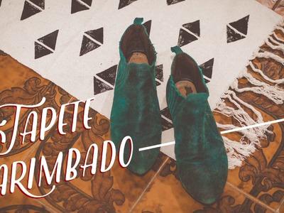 Customize um tapete com carimbo - DIY - VEDA15