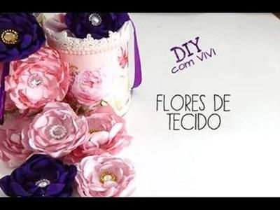 DIY FLORES DE TECIDO. SHABBY CHIC