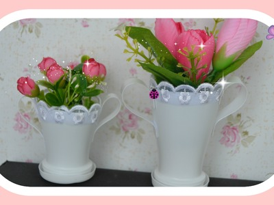 Como fazer vaso para arranjo floral, floricultura da Anna Frozen