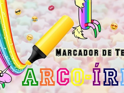D.I.Y:Marcador de Texto Arco-Íris|Rainbow highlighter