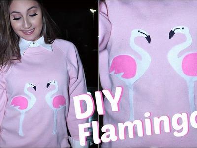 """DIY: Customização - Moletom de Flamingo """"Inverno"""""""