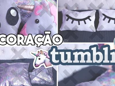 DIY Decoração de Quarto Tumblr - 5 Almofadas (unicórnio, diamante e +)