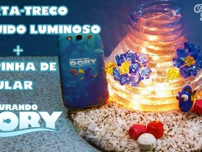 DIY Procurando Dory: Como fazer Luminária. Porta treco Líquido Luminoso + Capinha | Corujices da Lu