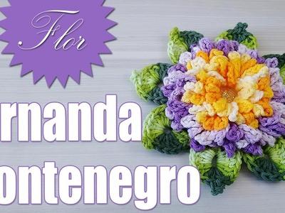 "Flor de crochê - Fernanda Montenegro "" Soraia Bogossian"""