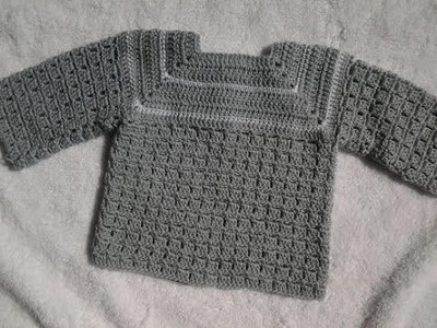 Chambrita , saquito o jersey a crochet  1ª puesta 1ª parte #tutorial