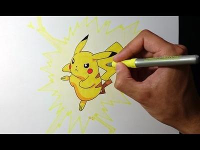 Como dibujar a Pikachu explicado paso a paso - How to draw Pikachu step by step