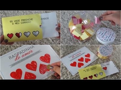 DIY: Presentes criativos para dia dos namorados! #2 (gastando pouco) + SORTEIO!