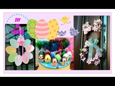 5 DIY de Páscoa , 5 DIY Easy Easter Decoration .