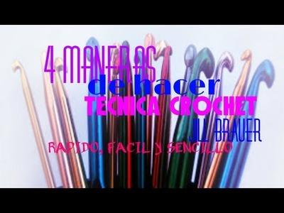 Como hacer tecnica crochet de 4 formas diferentes - Jill Brauer- Aureum Nails