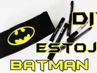 DIY: COMO FAZER ESTOJO DO BATMAN Com EVA e Tecido | Ideias Personalizadas - DIY