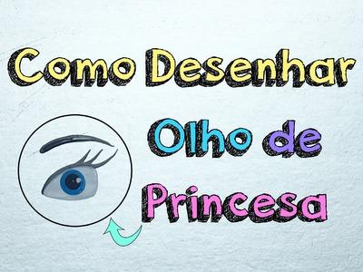 Como Desenhar Olho de Princesa | Passo a Passo Fácil | DIY | Unhas da Lalá