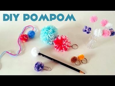 Como fazer Pompom + Ideias de Enfeites  - How to make pom pom