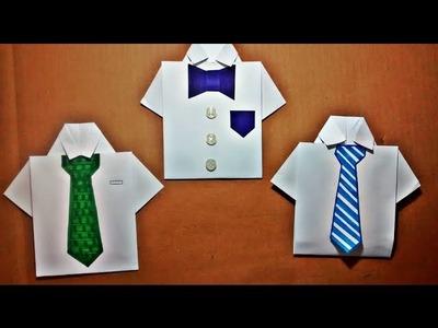 DIY: Camisa Origami - Cartão para o Dia dos Pais