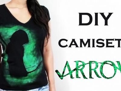 DIY: Camiseta ARROW  (Oliver Queen - Arqueiro Verde) Ideias Personalizadas - DIY