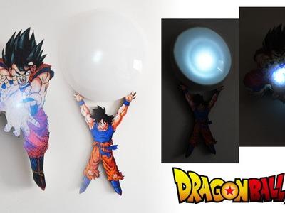 DIY - Luminária Dragon Ball Goku Genki Dama e Kamehameha
